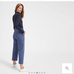 Everlane The Wide Leg Crop Pant - Mid Blue SIZE 6
